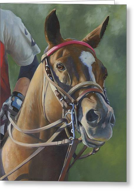 Greeting Card featuring the painting Intensity by Alecia Underhill