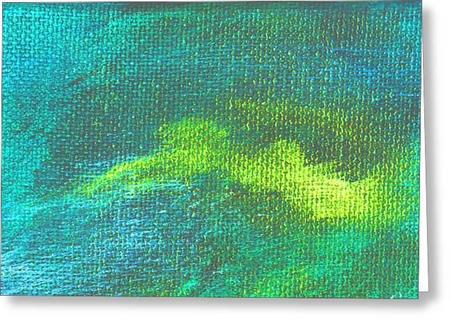 Intensity Aqua Blue Greeting Card by L J Smith