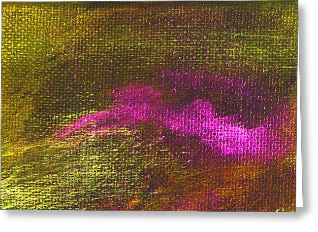 Intensity Yellow Pink Hue Greeting Card by L J Smith
