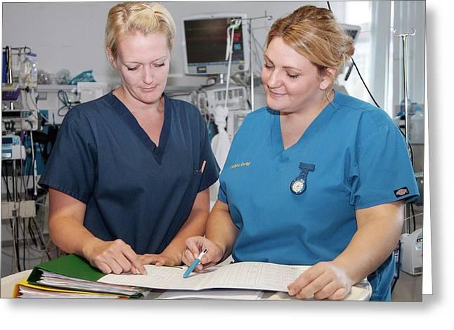 Intensive Care Nurses Greeting Card