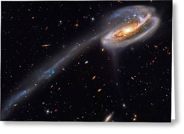 Interacting Galaxies Greeting Card by Celestial Images