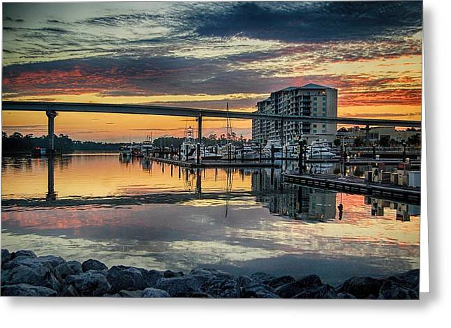 Intercoastal Waterway And The Wharf Greeting Card