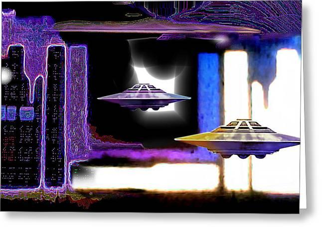 Interdimensional  Stargate Greeting Card by Hartmut Jager