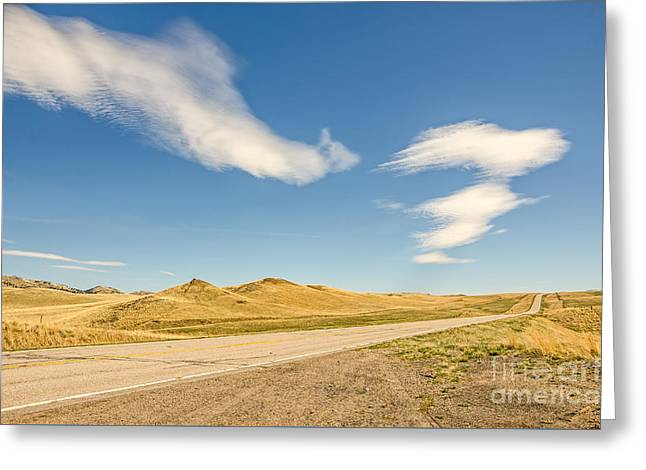 Interesting Clouds In Big Sky Country Greeting Card