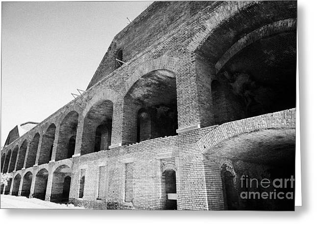 Interior Brick Walls Of Fort Jefferson Dry Tortugas National Park Florida Keys Usa Greeting Card by Joe Fox
