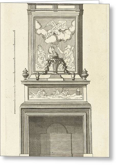 Interior, Decoration, Design, Ornament, Ornamental Greeting Card by Cornelis Danckerts (i) And Pierre Bullet And Justus Danckerts