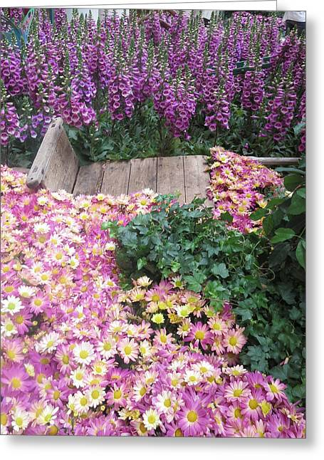 Interior Decorations Butterfly Gardens Vegas Golden Yellow Purple Flowers Greeting Card by Navin Joshi