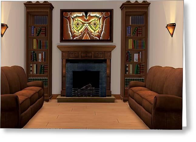 Interior Design Idea - Barn Owl Greeting Card