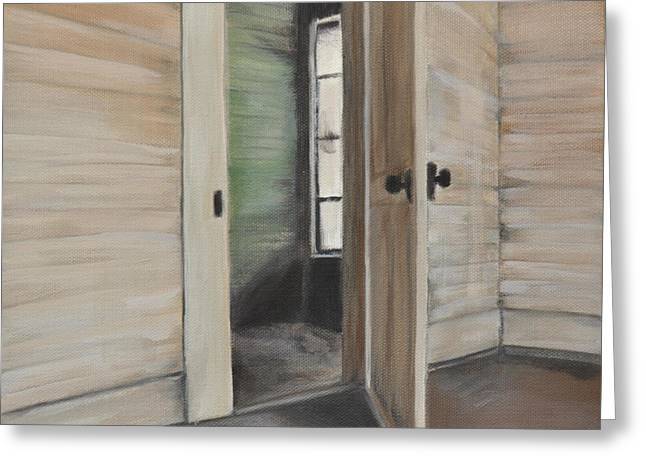 Interior Doorway Greeting Card by Lindsay Frost