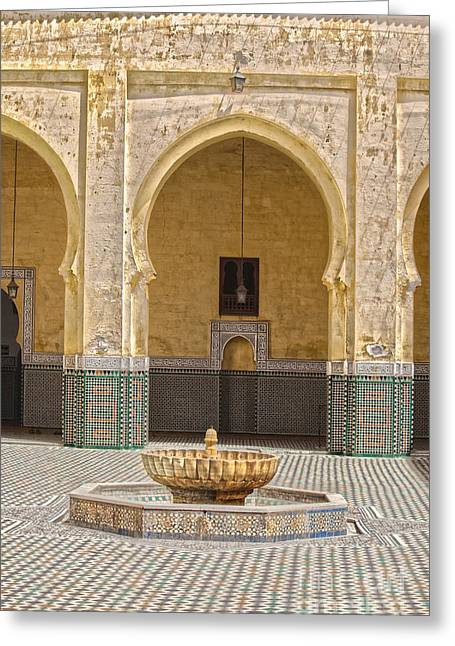 Interior Mausoleum Moulay Ismail Greeting Card