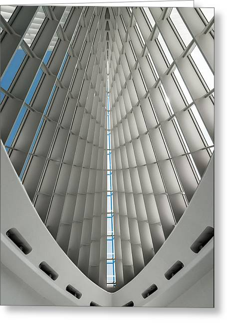 Interior Milwaukee Art Museum Greeting Card by Paul Plaine