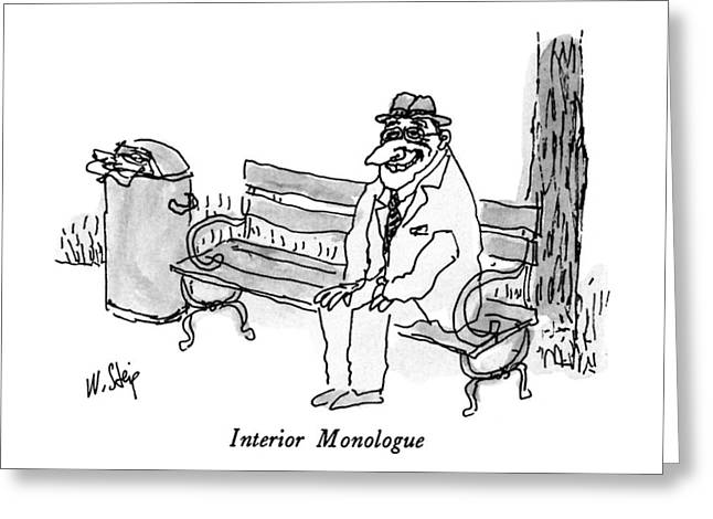 Interior Monologue Greeting Card by William Steig