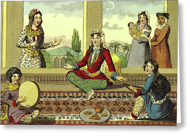 Interior Of A Harem Greeting Card by Litz Collection