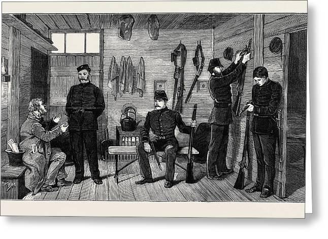 Interior Of A Police Hut At Gurranmore, Pallas Greeting Card