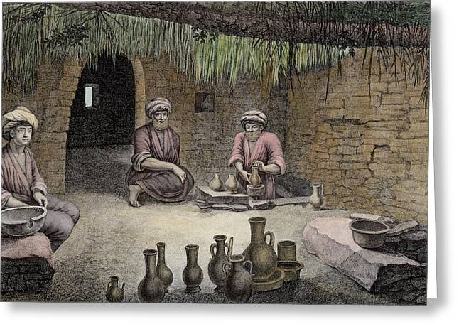 Interior Of A Potters Workshop Greeting Card