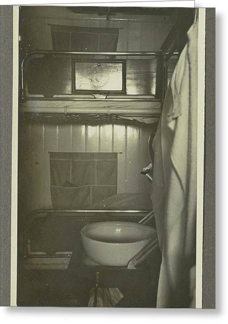 Interior Of A Ships Cabin, Anonymous,dutch Indies Greeting Card by Artokoloro