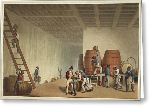 Interior Of Distillery Greeting Card by British Library