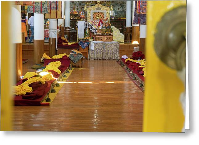 Interior Of First Floor Temple Greeting Card