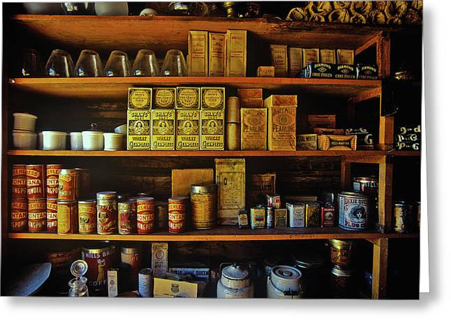 Interior Of General Store With Goods Greeting Card