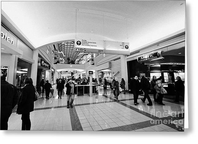interior of metropolis at metrotown shopping mall Vancouver BC Canada Greeting Card by Joe Fox