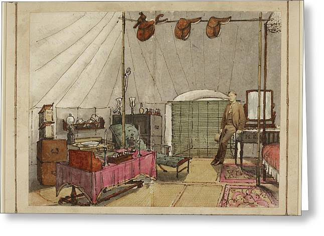 Interior Of My Tent Greeting Card