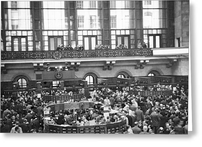Interior Of Ny Stock Exchange Greeting Card