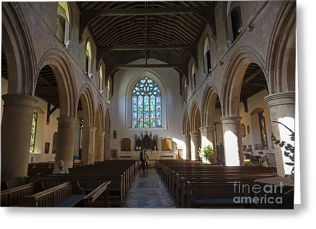 Interior Of St Mary's Church In Rye Greeting Card