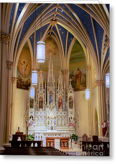 Interior Of St. Mary's Church Greeting Card
