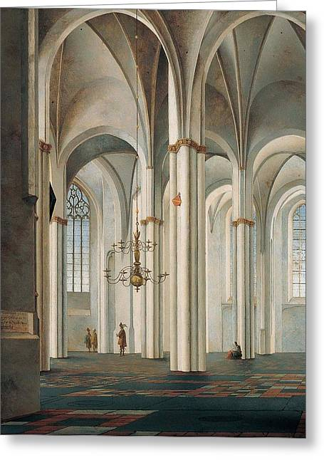 Interior Of The Buurkerk Greeting Card