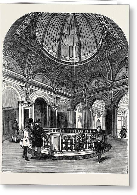 Interior Of The Conservative Club House, The Upper Vestibule Greeting Card