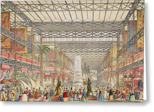 Interior Of The Crystal Palace, Pub Greeting Card by Augustus Butler