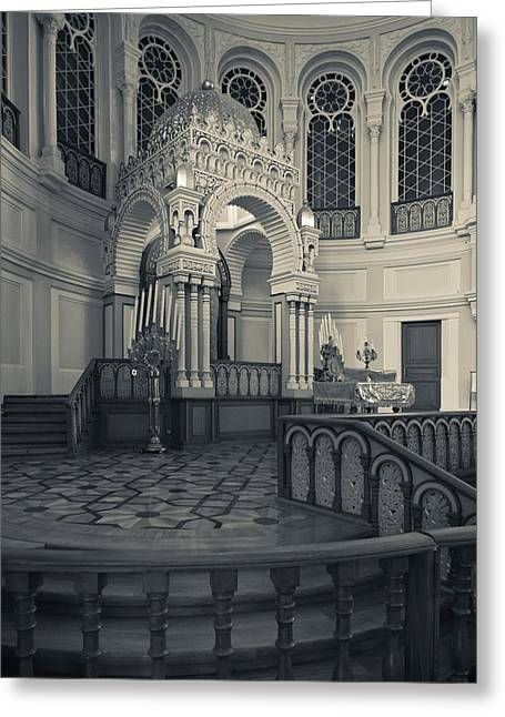 Interior Of The Grand Choral Synagogue Greeting Card by Panoramic Images