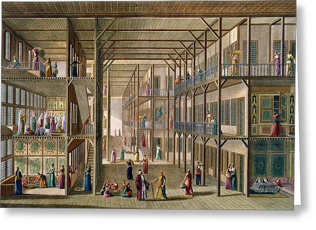 Interior Of The Harem Greeting Card by Anton Ignaz Melling