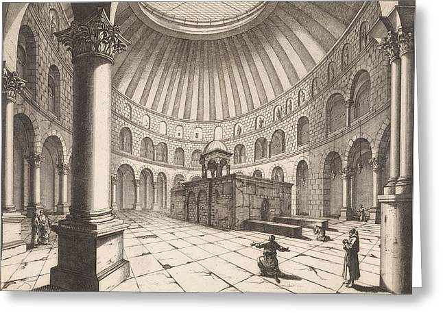 Interior Of The Holy Sepulchre In Jerusalem Israel Greeting Card