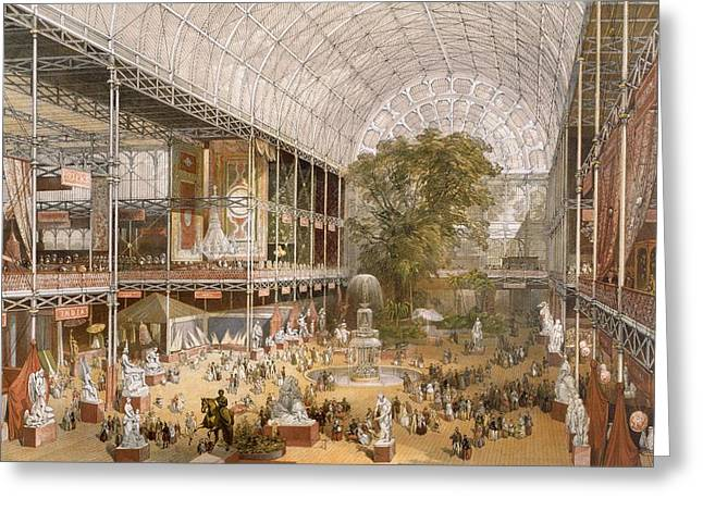 Interior Of The Internation Exhibition Greeting Card