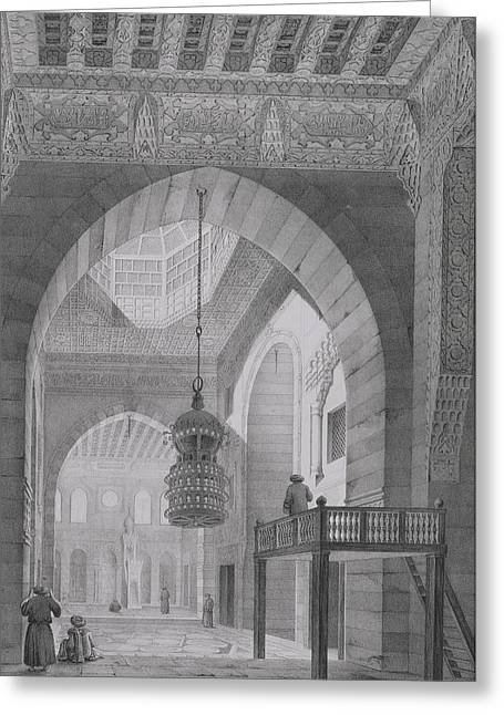 Interior Of The Mosque Of Kaid-bey Greeting Card