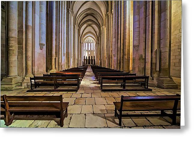 Interior Of The Monastery Da Batalha Greeting Card