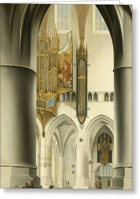 Interior Of The St. Bavo Church In Haarlem Greeting Card