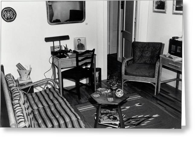 Interior Of Typical House Greeting Card by Los Alamos National Laboratory/science Photo Library