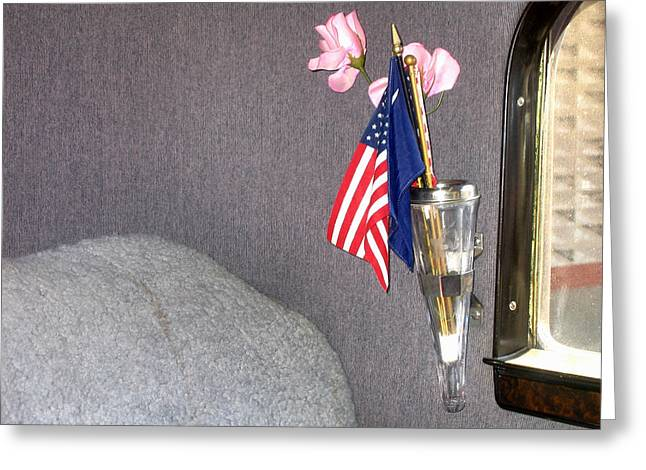 Interior Restored 1934 Dodge 4 Door Sedan Auto Show Casa Grande Arizona 2004 Greeting Card