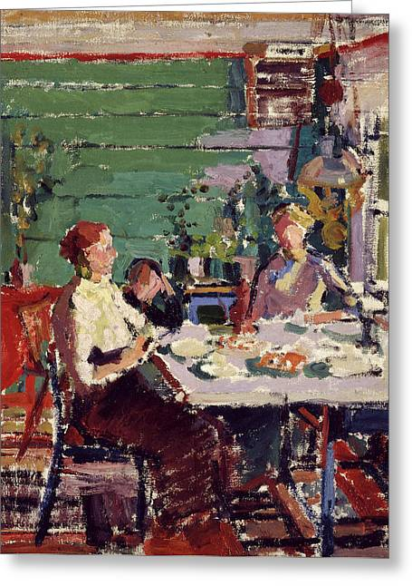 Interior Scene, Possibly In Norway Interior Scene Greeting Card by Litz Collection