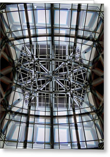 Interior Structure Greeting Card by Marcia Lee Jones