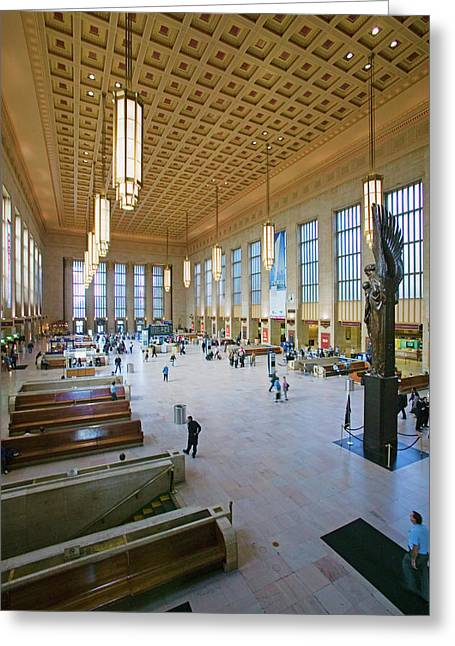 Interior View Of 30th Street Station Greeting Card