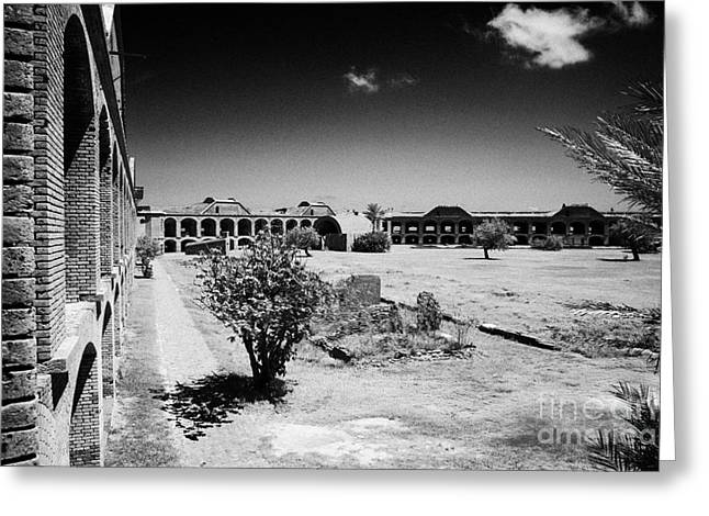 Interior Walls And Courtyard Of Fort Jefferson Dry Tortugas National Park Florida Keys Usa Greeting Card