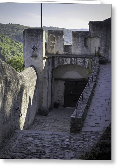 Interior Walls And Gates Of Marksburg Castle Greeting Card by Teresa Mucha