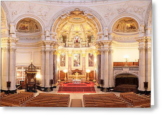 Interiors Of A Cathedral, Berlin Greeting Card by Panoramic Images