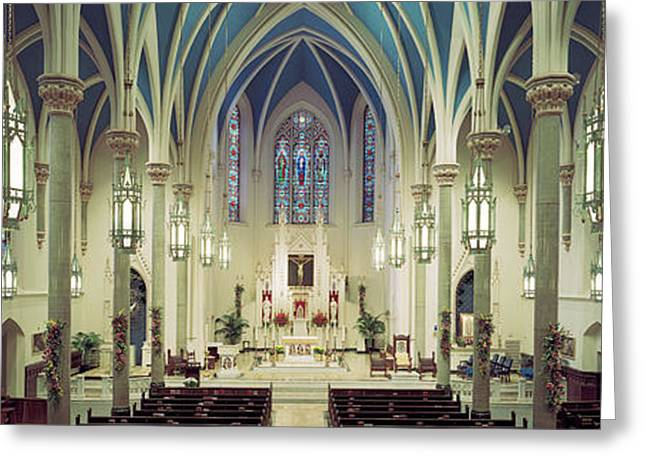Interiors Of A Cathedral, St. Marys Greeting Card by Panoramic Images