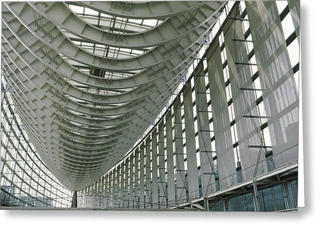 Interiors Of A Forum, Tokyo Greeting Card by Panoramic Images