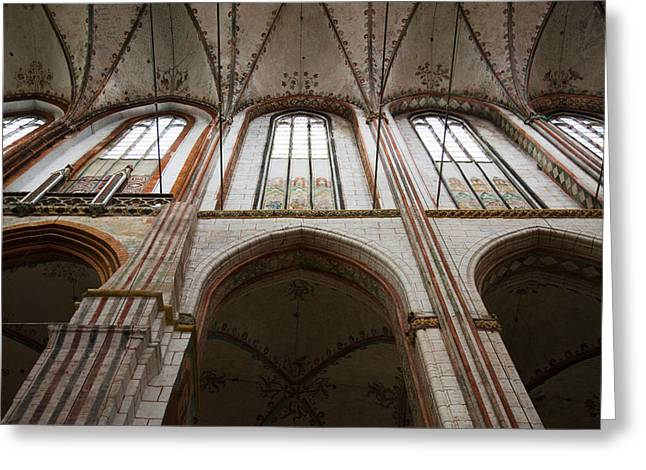 Interiors Of A Gothic Church, St. Marys Greeting Card by Panoramic Images