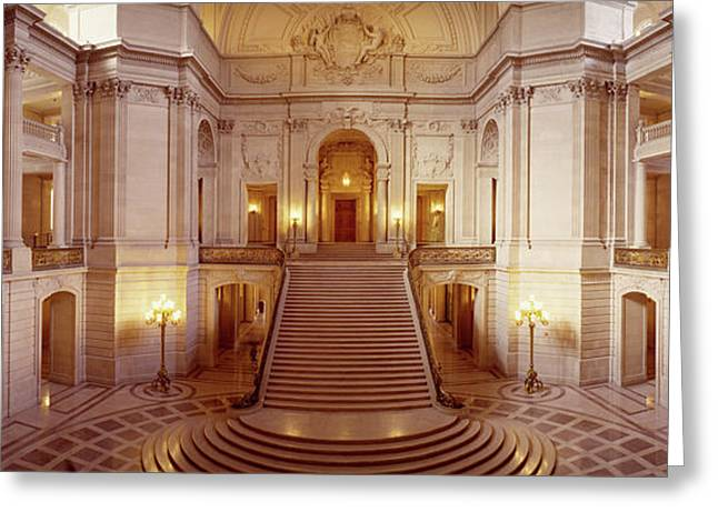 Interiors Of A Government Building Greeting Card